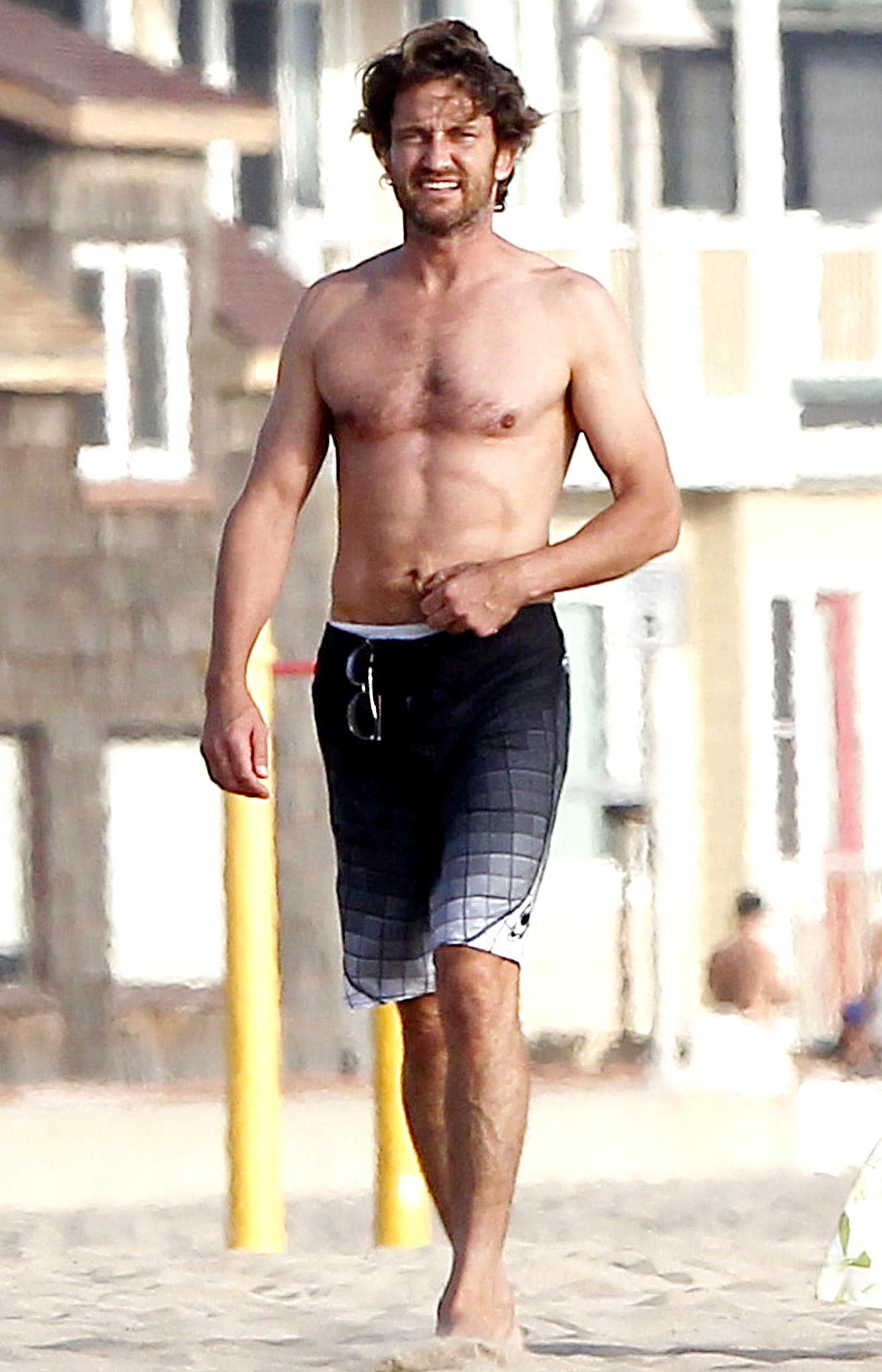 butler shirtless Gerard