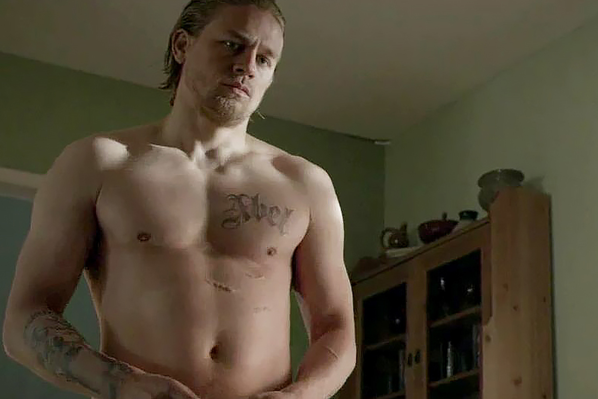 Topless charlie hunnam