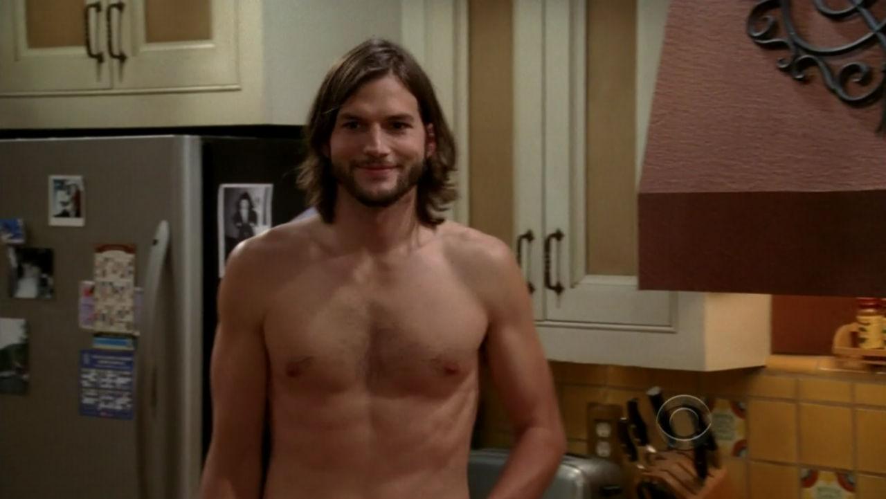 ashton kutcher shirtless two and a half men