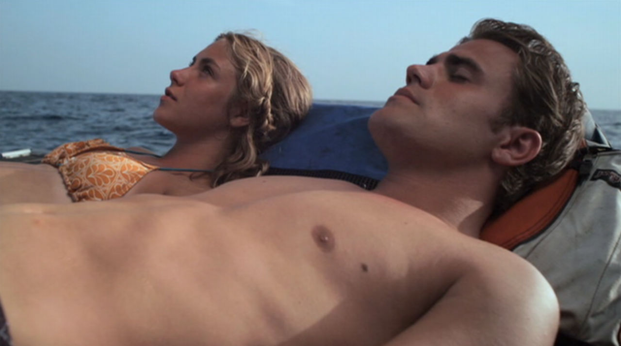 paul wesley shirtless beneath the blue