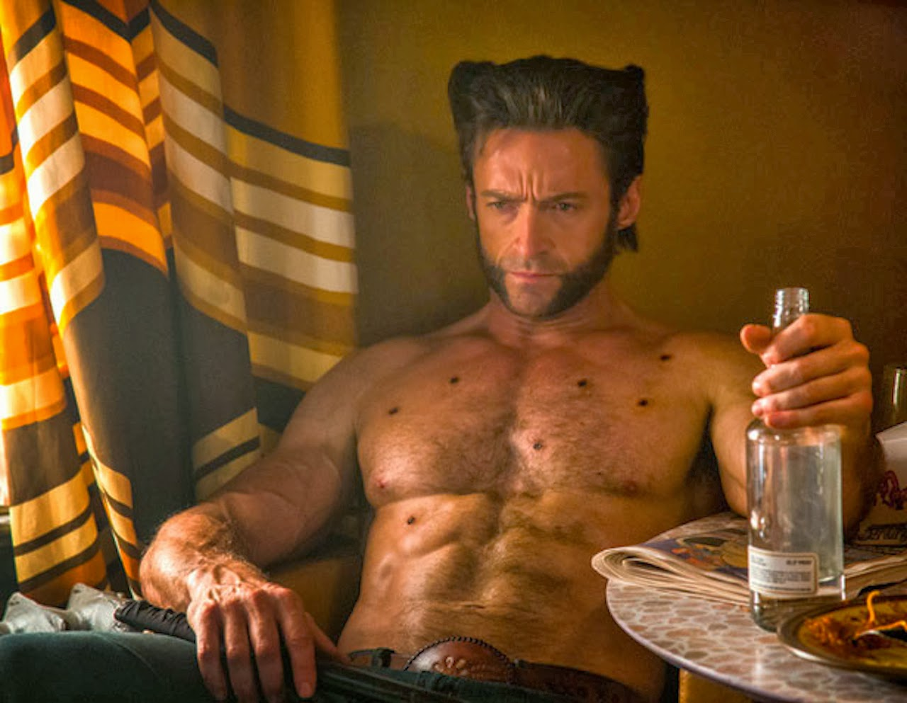 hugh jackman wolverine shirtless