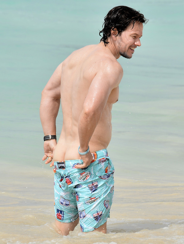 Mark Wahlberg and family are spotted on the beach in Barbados