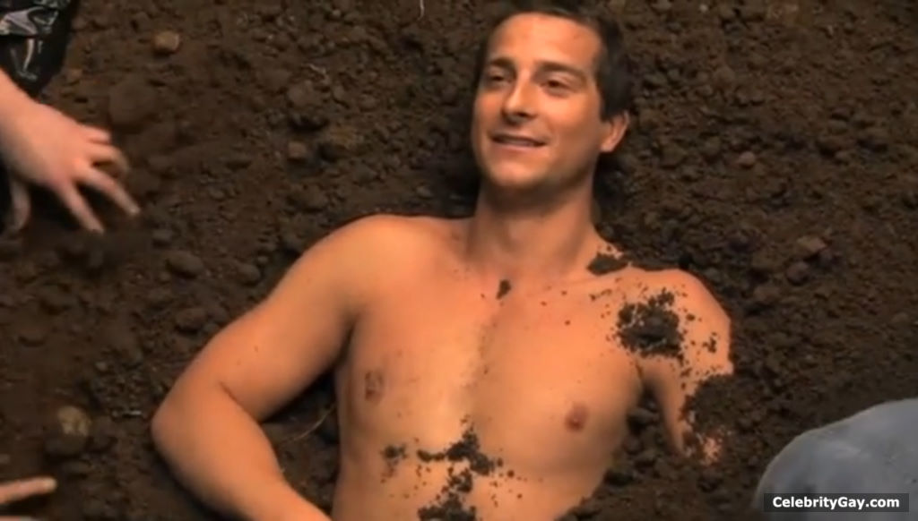 Bear grylls nude in themal image something is