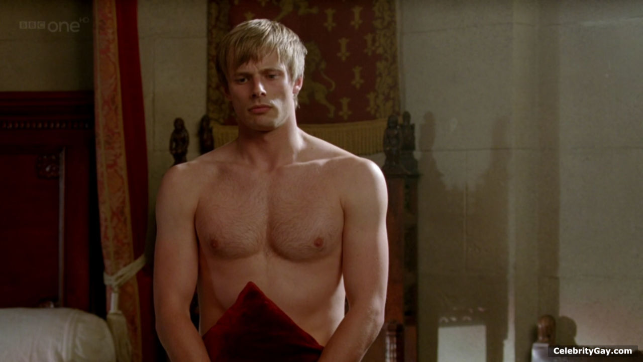 Bradley shirtless merlin james